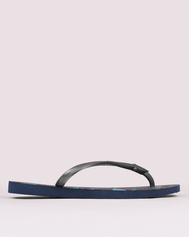 Havaianas Slim Royal Flip Flops Navy Blue