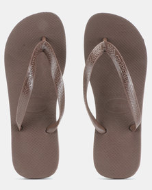 Havaianas Top Basic Flip Flops Dark Brown