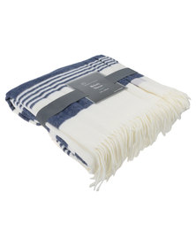 Haven and Earth Melody Anchorage Throw Navy/Natural