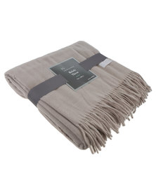 Haven and Earth Melody Plain Throw Cobblestone