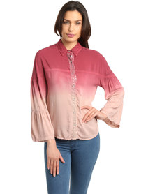 Hip Shop Counting Stars Top Maroon Pink