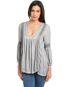 Hip Shop Knock Out Top Grey
