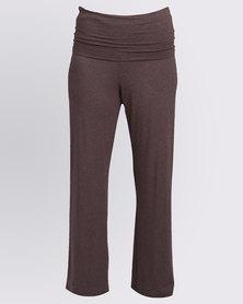 Holly Blue Wrap Overknit Pant Desert Solid
