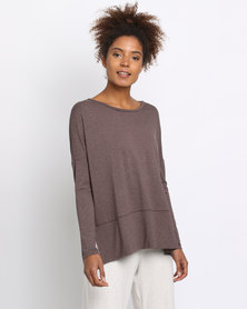 Holly Blue Tunic Knit Top Desert Solid