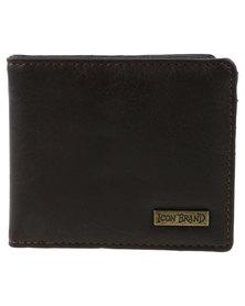 Icon Brand Hotel NY Bi-Fold Wallet Brown