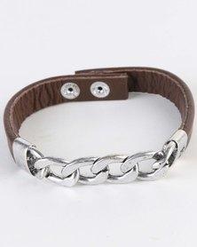 Icon Brand First Chain Cuff Bracelet Silver-Tone