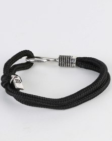Icon Brand Line Caught Bracelet Black