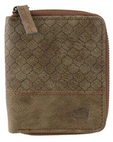 Icon Brand Pretender Wallet Vintage Zipper Brown