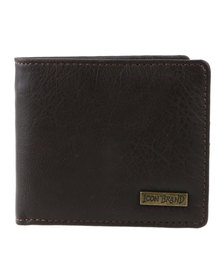 Icon Brand Hotel NY BI-Fold Wallet Brown