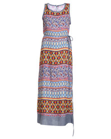 Ilan Mykonos Maxi Dress Multi-Coloured