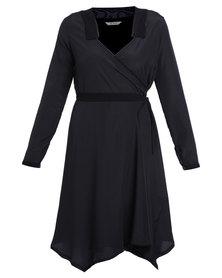 Ilan Wrap Dress Black