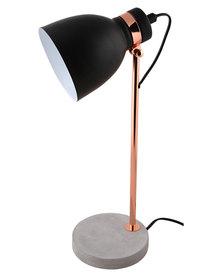 Illumina Concrete Base Lamp Black