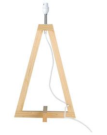 Illumina Achille Wooden Lamp Base Brown