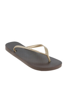 Ipanema Classica Fem Flip Flop Brown Gold