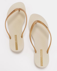 Ipanema Wave Flip Flops Beige/Gold