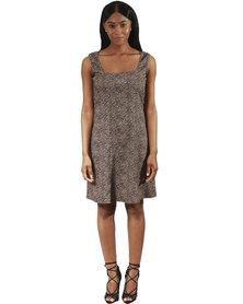 Jatine Ella Dress Animal Print Brown