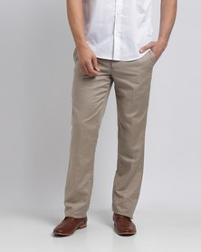 JCrew Linen Blend Flat Front Suit Trousers Taupe