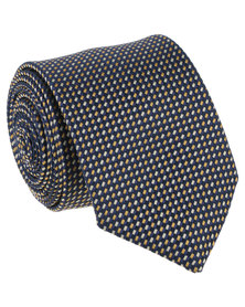 JCrew Neat Tie Navy And Yellow