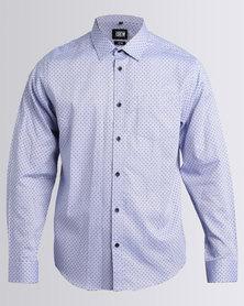 JCrew Dot Fancy Shirt Blue