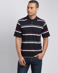 JCrew Multi Stripe Short Sleeve Knitshirt Navy & White