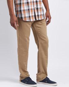 JCrew Knitted 5 Pocket Jeans Camel