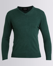 JCrew Cashmellon V Neck Jersey Green