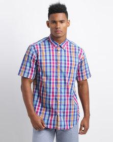 JCrew Short Sleeve Shirt Blue/Pink
