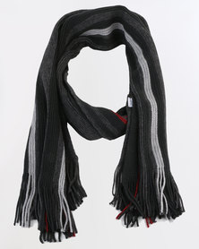 JCrew Mens Multi Colour Scarf Black