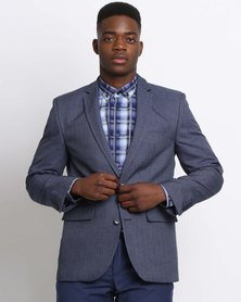 JCrew Fancy 2 Button Jacket  Blue