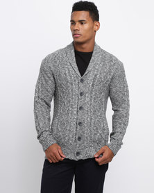 JCrew Grey Marled Button Front Jersey