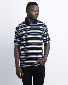 JCrew Stripe Mercerised Golf Shirt Multi