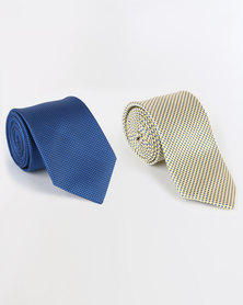 JCrew 2 Pack Ties Yellow and Blue