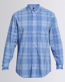 JCrew Check Long Sleeve Shirt Blue