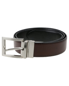 JCrew Self Interest PU Belt Black/Brown