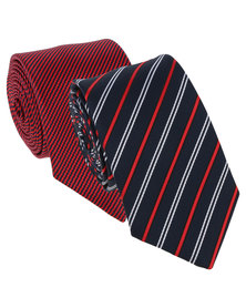 JCrew 2 Pack: Diagonal Tie Navy and Red