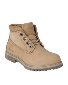 Jeep Gecko Lo Leather Boots Neutral