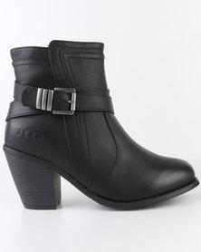 Jeep Saffron Ankle Boots Black