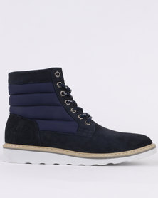 Jeep Lancaster Casual Lace Up Ankle Boot Navy