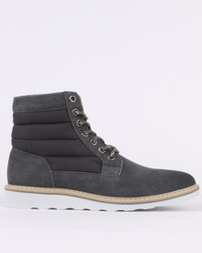 Jeep Lancaster Casual Lace Up Ankle Boot Grey