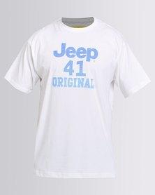 Jeep Short Sleeve Applique T-Shirt White