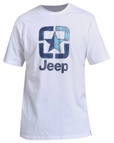 Jeep Short Sleeve Printed T-Shirt White