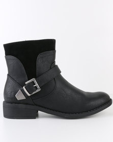 Jeep Sapphire Ankle Boots Black