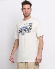 Jeep Print T-Shirt Natural