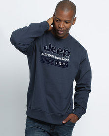 Jeep Crew Fleece Blue