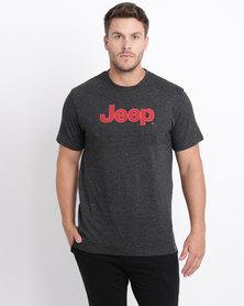 Jeep Short Sleeve Print T-Shirt Grey
