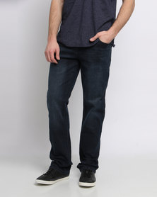 Jeep 5 Pocket Stretch Denim Jeans Dark Blue