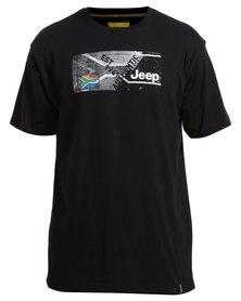 Jeep Short Sleeve Print T-Shirt Black
