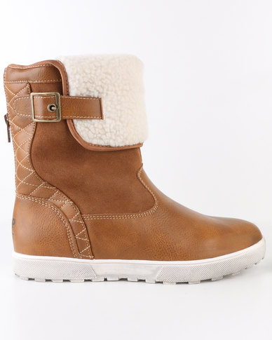 Jeep Cloud Ankle Boots Camel