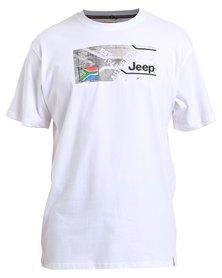 Jeep Short Sleeve Print T-Shirt White