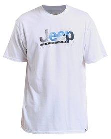 Jeep Short Sleeve Printed T-Shirt White